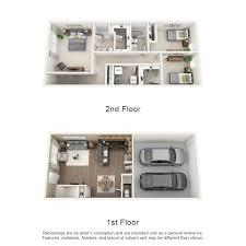 townhouse floor plans. Three Bedroom Townhome Townhouse Floor Plans