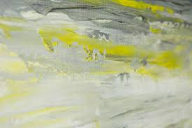 >sky and sea by qiqigallery 36 x 12 abstract art yellow grey  sky and sea by qiqigallery 36 x 12 abstract art yellow grey landscape painting original art painting on canvas wall