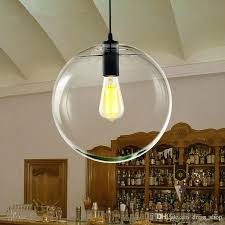 modern re globe pendant lights glass ball lamp shade hanging suspension kitchen light fixtures home lighting