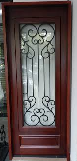 fondi timber and wrought iron entry door
