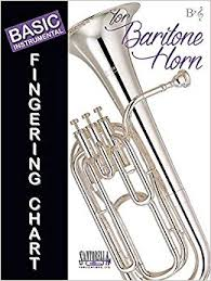 Valve Trombone Finger Chart Treble Clef Basic Fingering Chart For Baritone Horn In Treble Clef In Bb