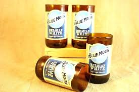 blue moon bottle unique drinking glasses from recycled beer bottles 8 oz plastic recycle