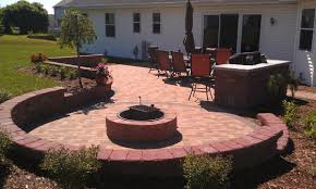 patio with fire pit and grill. Perfect Fire Grill And Fire Pit And Patio With