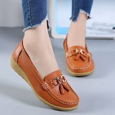 women flats spring autumn shoes woman soft leather flats women slip on las loafers female size 35 41