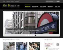 Ost Magazine Website Template Free Website Templates Os