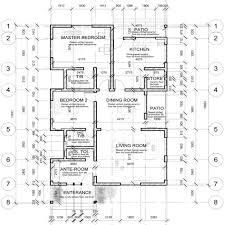 floor plan of two bedroom bungalow