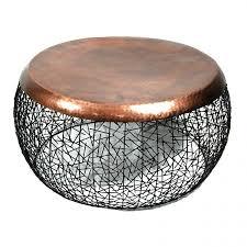 copper drum coffee table image and description