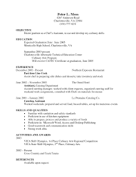 resume template chef resume template
