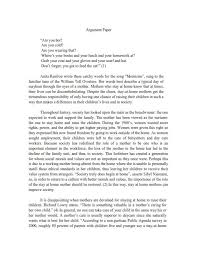 good argumentative essay exles and