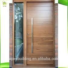 modern wood panel door design plain solid main oak models doors