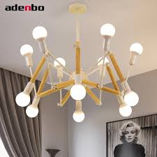 modern spider chandeliers led wood chandelier black and white painted iron lights for living room dining room bedroom lighting chandeliers black chandelier