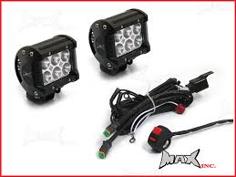 universal motorcycle 18 watt cree led spot driving lights universal motorcycle 18 watt cree led spot driving lights complete wiring kit