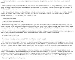 essay on saving private ryan saving private ryan essay gcse  original writing basedon the film quot saving private ryan quot at essay on original writing basedon