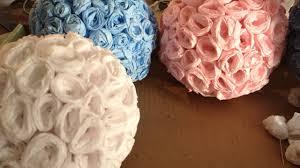 Crepe Paper Flower Balls How To Make Elegant Crepe Paper Flower Balls Diy Crafts Tutorial Guidecentral