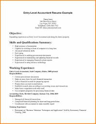 Sample Entry Level Resume 60 cpa resume sample entry level grittrader 43