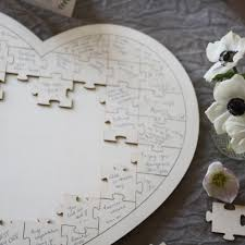 Wooden Heart Jigsaw Puzzle Wedding Guest Book The Wedding Of My Dreams