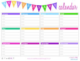 Birthday Anniversary Calendar Free Birthday Anniversary Calendar Templates At