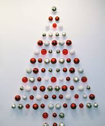 red gold and white ornament tree