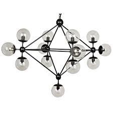 nico small chandelier black