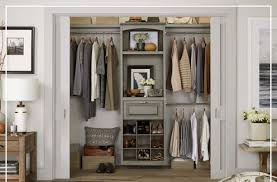 Reach in closet organizers do it yourself Stackable Wood Closet Kits Are Modular And Can Be Built To Suit Your Storage Needs The Happy Housie Closet Organization