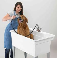 portable dog grooming tub and dog bath tub