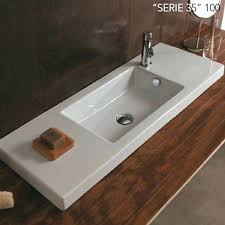 rectangular bathroom sinks or technical sheet a rectangle semi recessed or wall hung sink shown with