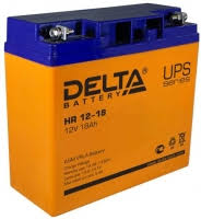 Аккумуляторная <b>батарея Delta HR 12-18</b>, 12В, 18Ач. в интернет ...