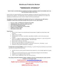 Sample Resume Warehouse Supervisor Job Objectives Best Sample Resume