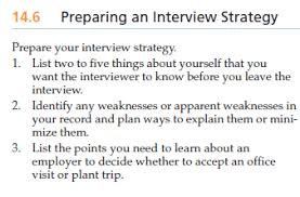 Solved 14 6 Preparing An Interview Strategy Prepare Your