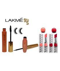 lakme 9 to 5 waterproof liner mascara eyelashes l oreal paris longlasting lipstick makeup kit 27 2 gm lakme 9 to 5 waterproof liner mascara