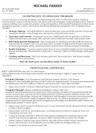 Resume Examples Professional Impressive Technical Manager Resume Example