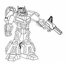 Tô màu Robot bắn súng - Trang Tô Màu Cho Bé