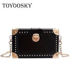<b>TOYOOSKY</b> Small <b>Women</b> Box Bags Black Leather <b>Female</b> ...