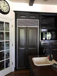 what a beautiful built in refrigerator transformation this 1994 old sub zero