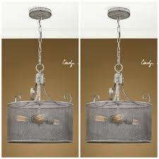 pair urban industrial hand aged metal screen shade pendant chandelier crafted nrhxmh3027 ceiling lights chandeliers
