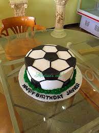 How To Decorate A Soccer Ball Cake Soccer ball birthday cake Visit us Facebookmarissa'scake or 44
