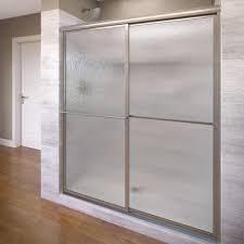 glass sliding shower doors frameless. Bargain Frameless Sliding Shower Doors Brushed Nickel Basco Classic 60 In X 70 Semi Door | Amyvanmeterevents Doors. Glass