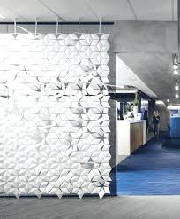 wall mounted room divider hanging facet regarding dividers from ceiling decor retractable