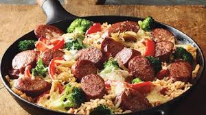 photo of easy smoked sausage skillet by hillshire farm brand