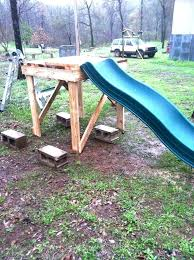 Homemade Pool Slide Kids Have Fun On A Homemade Water Slide In The