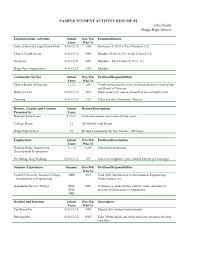 Resume Extracurricular Resume Ideas Extracurricular Activities