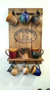 coffee mug rack for wall display cup holder by mounted canada