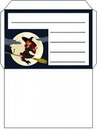 Witch on a Broomstick Envelope | Printable envelope, Note paper, Witch