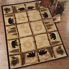 alpine black bear rug 8 x 10