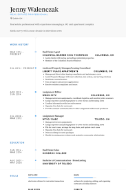 Real Estate Agent Resume Samples Visualcv Resume Samples Database
