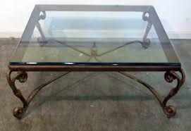 glass top wrought iron