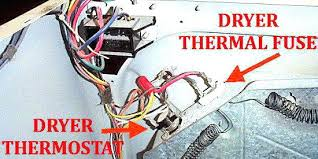 thermal fuse location on some newer and tag lowes dryer works but dryer not heating centennial location of thermal fuse on tag gas test wiring dryer thermal fuse