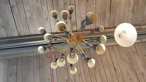 massive 3 tier monolith enamel and brass chandelier by blueprint lighting 2016 in
