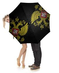 Зонт-трость с деревянной ручкой Россия #2235508 – купить ...