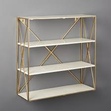 Gold Floating Shelves